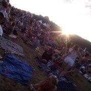 Západ slunce nad Točníkem
