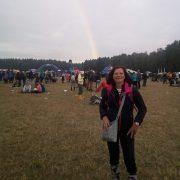 Jojo, sluníčka si užili na všech festivalech, ale déšť, vítr, zimu a DUHU, jen na Bezdězu! :-) :-) :-)