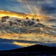 Západ slunce nad Bouzovem